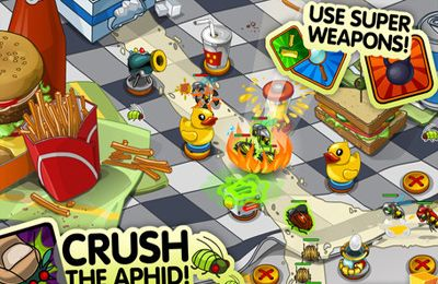 Screenshots of the Bug Invasion game for iPhone, iPad or iPod.