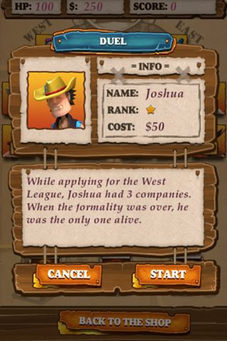 Screenshots of the Bull Billy game for iPhone, iPad or iPod.
