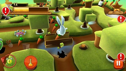 Screenshots of the Bunny maze 3D game for iPhone, iPad or iPod.