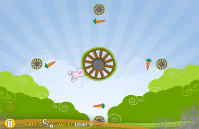 Screenshots of the Bunny Spin game for iPhone, iPad or iPod.