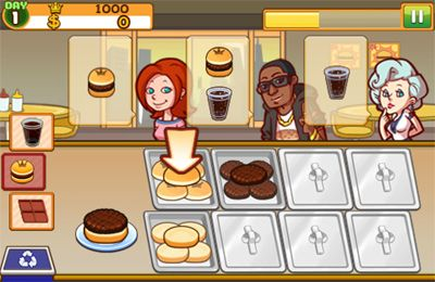 Screenshots vom Spiel Burger Queen World für iPhone, iPad oder iPod.