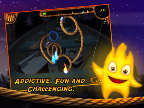 Download Burn the Rope 3D iPhone free game.