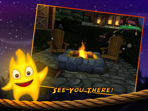 Screenshots of the Burn the Rope 3D game for iPhone, iPad or iPod.