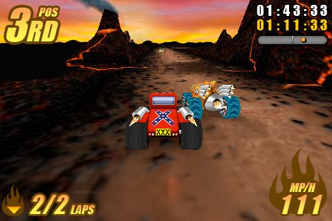 Descarga gratuita de Burning tires para iPhone, iPad y iPod.