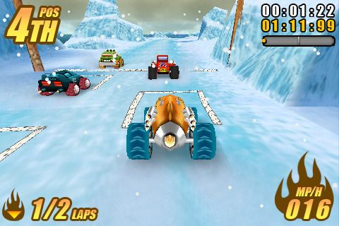 Capturas de pantalla del juego Burning tires para iPhone, iPad o iPod.