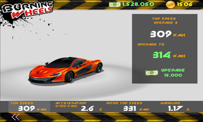 Screenshots vom Spiel Burning Wheels 3D Racing für iPhone, iPad oder iPod.
