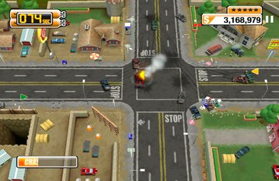 Screenshots do jogo Burnout Crash para iPhone, iPad ou iPod.