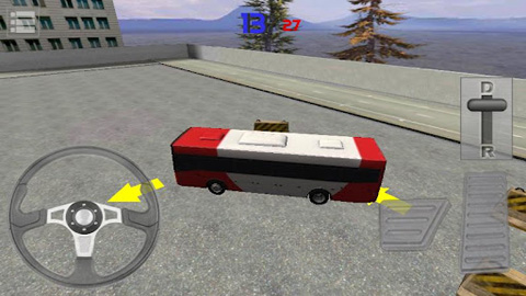 Écrans du jeu Bus Parking 3D pour iPhone, iPad ou iPod.