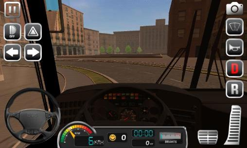 Screenshots of the Bus simulator 2015 game for iPhone, iPad or iPod.