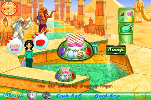Screenshots of the Cake mania 3 game for iPhone, iPad or iPod.