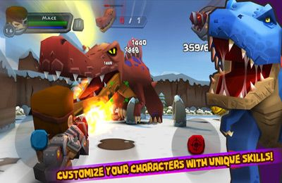 Capturas de pantalla del juego Call of Mini: DinoHunter para iPhone, iPad o iPod.