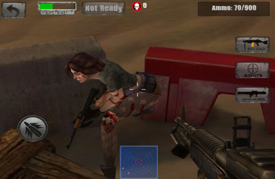 Screenshots of the Call of the Zombie Sbombers game for iPhone, iPad or iPod.