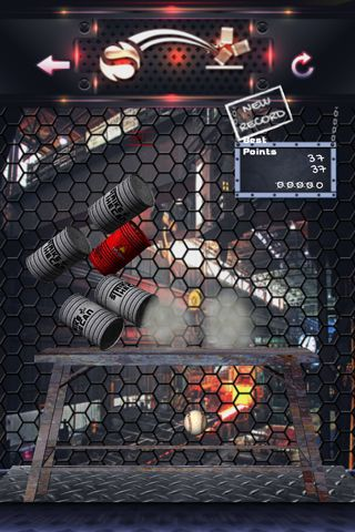 Screenshots of the Can knockdown striker game for iPhone, iPad or iPod.
