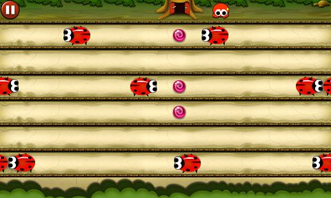 Screenshots of the Candy chase game for iPhone, iPad or iPod.