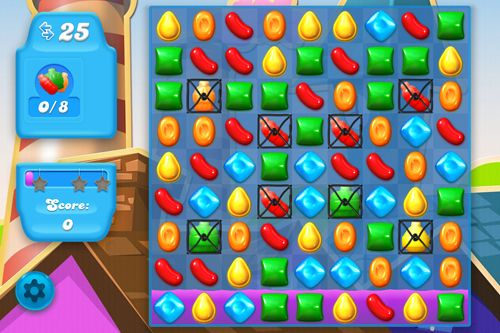 Геймплей Candy crush: Soda saga для Айпад.