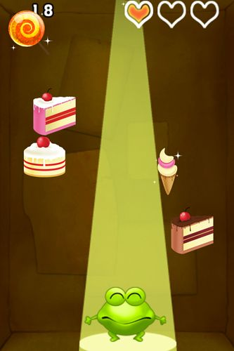 Screenshots of the Candy frog game for iPhone, iPad or iPod.
