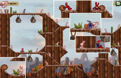 Screenshots of the Cannibal Bunnies game for iPhone, iPad or iPod.