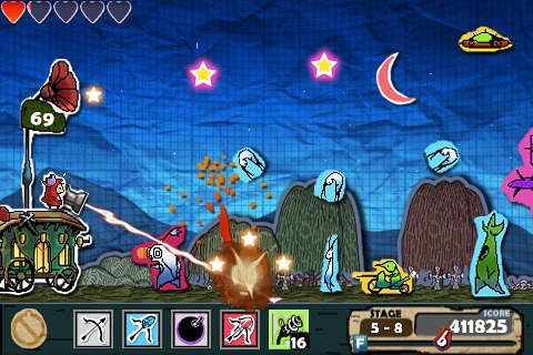 Capturas de pantalla del juego Cannon defense para iPhone, iPad o iPod.