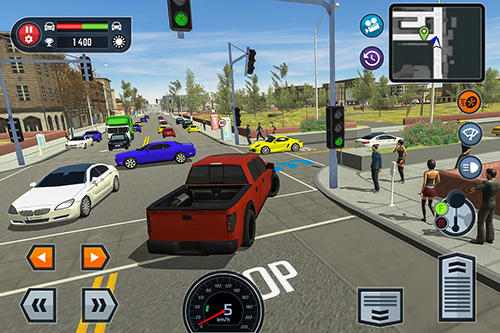Écrans du jeu Car driving school simulator pour iPhone, iPad ou iPod.
