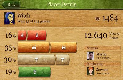 Screenshots of the Carcassonne game for iPhone, iPad or iPod.