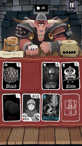 Capturas de pantalla del juego Card crawl para iPhone, iPad o iPod.