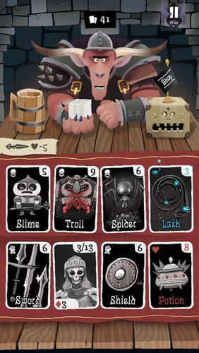 Screenshots do jogo Card crawl para iPhone, iPad ou iPod.