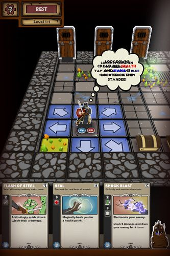 Écrans du jeu Card dungeon pour iPhone, iPad ou iPod.