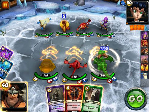 Capturas de pantalla del juego Card king: Dragon wars para iPhone, iPad o iPod.
