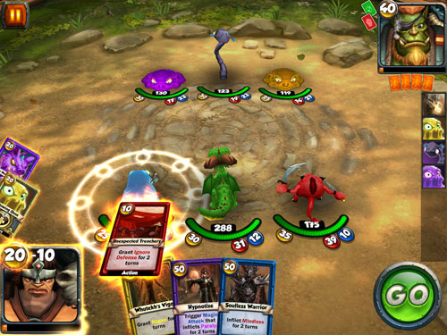 Screenshots of the Card king: Dragon wars game for iPhone, iPad or iPod.