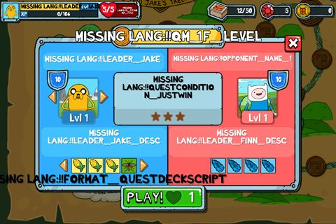 Screenshots of the Card wars: Adventure time game for iPhone, iPad or iPod.