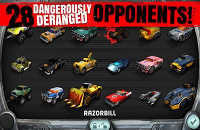 Screenshots of the Carmageddon game for iPhone, iPad or iPod.