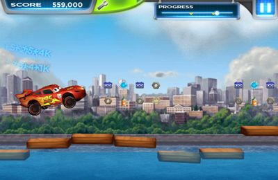 Screenshots do jogo Cars 2 para iPhone, iPad ou iPod.