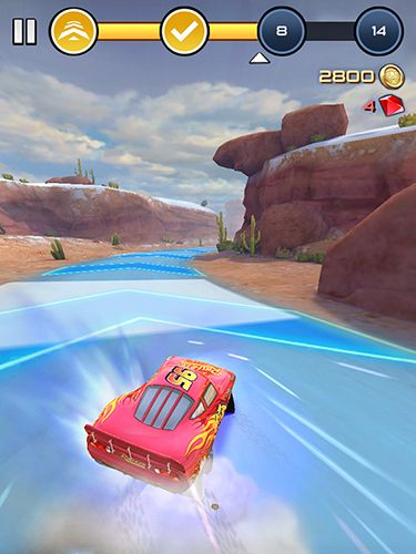 Screenshots of the Cars: Lightning league game for iPhone, iPad or iPod.