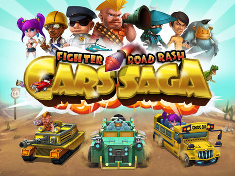 Cars Saga: Fighter Road Rash iPhone game - free. Download