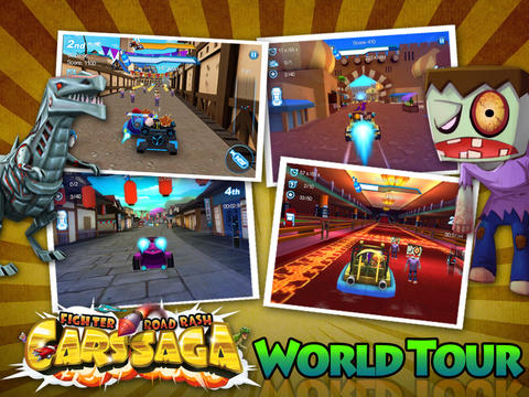 Kostenloser Download von Cars Saga: Fighter Road Rash für iPhone, iPad und iPod.