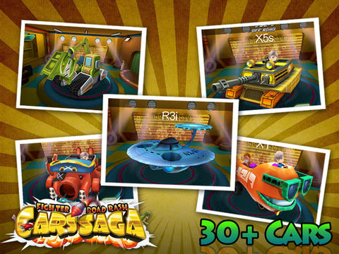 Screenshots of the Cars Saga: Fighter Road Rash game for iPhone, iPad or iPod.