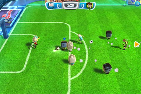 Screenshots of the Cartoon Network superstar soccer game for iPhone, iPad or iPod.