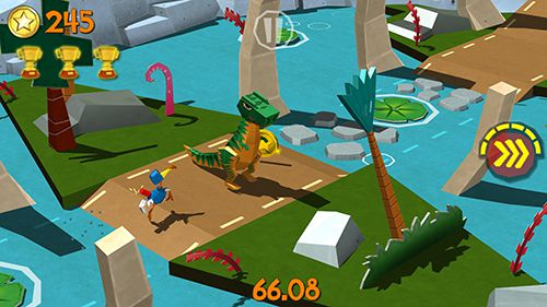 Screenshots vom Spiel Cartoon survivor: Jurassic adventure für iPhone, iPad oder iPod.