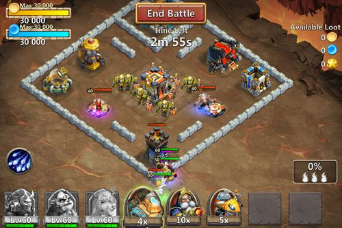Download Castle clash iPhone free game.