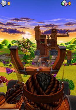 Screenshots do jogo Catapult King para iPhone, iPad ou iPod.
