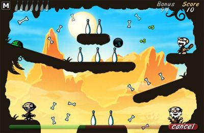 Screenshots of the Cave Bowling game for iPhone, iPad or iPod.