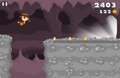 Capturas de pantalla del juego Cave Run para iPhone, iPad o iPod.