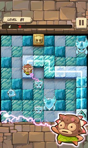 Screenshots of the Caveboy escape game for iPhone, iPad or iPod.