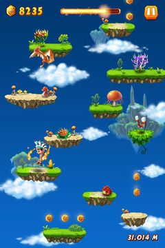 Capturas de pantalla del juego Caveman jump para iPhone, iPad o iPod.