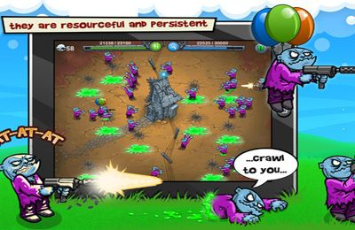 Screenshots of the Charge The Zombie game for iPhone, iPad or iPod.