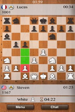 Screenshots vom Spiel Chess Multiplayer für iPhone, iPad oder iPod.