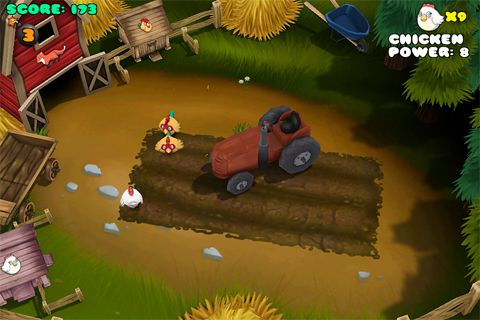 Screenshots of the Chicken coup game for iPhone, iPad or iPod.