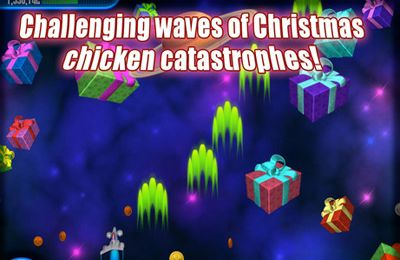 Kostenloser Download von Chicken Invaders 3 Revenge of the Yolk Christmas Edition für iPhone, iPad und iPod.