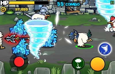 Screenshots vom Spiel Chicken Revolution : Warrior für iPhone, iPad oder iPod.