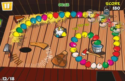 Capturas de pantalla del juego Chicken Zooma para iPhone, iPad o iPod.